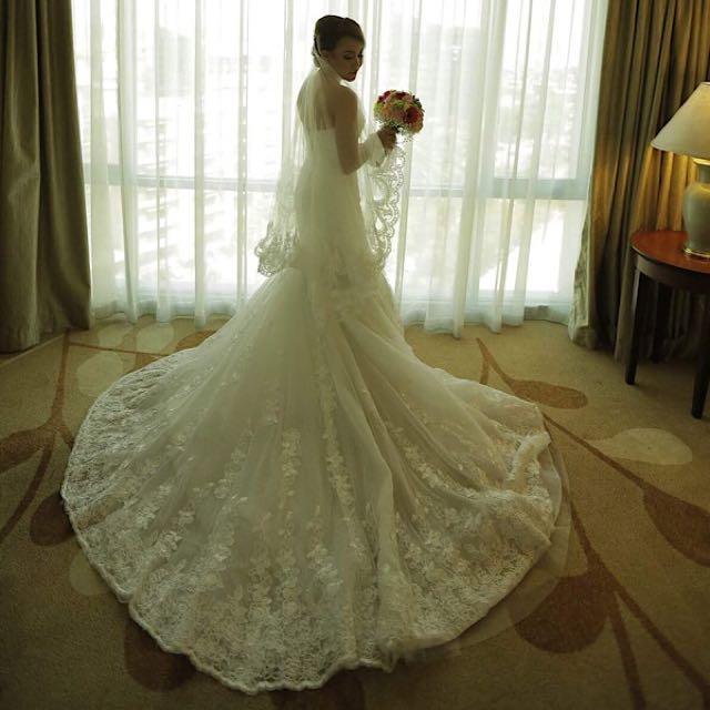 Mermaid Cut Wedding Gown by Erwin Lee Tan, Preloved Women\'s Fashion ...