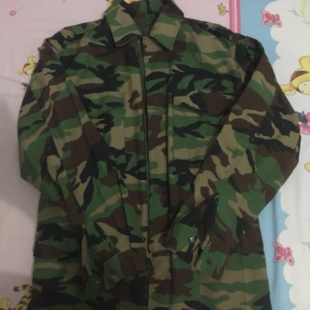 Military parka camo
