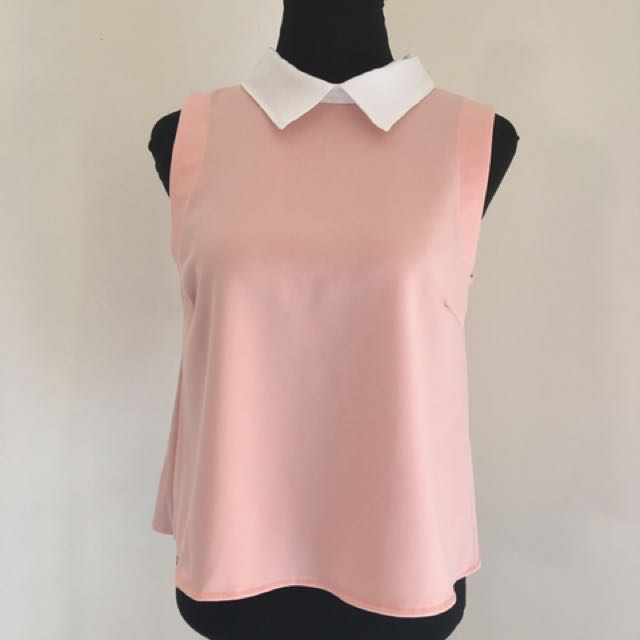 Miss Halfway Collar Top *multiple colors available*