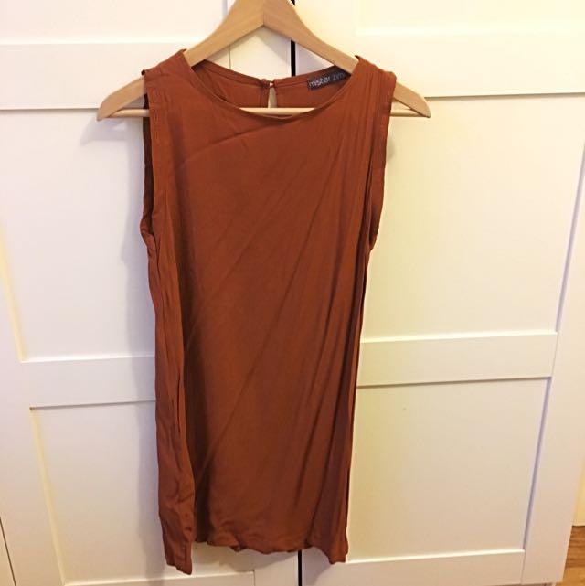 Mister Zimi Size 6 Orange Red Dress