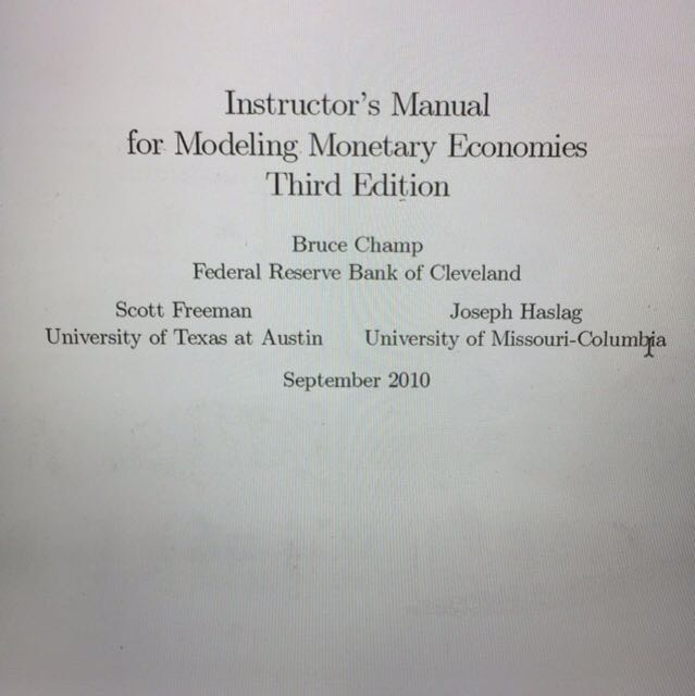 modeling monetary economies textbook solution manual books rh sg carousell com The Solution Improving Problem and Solution