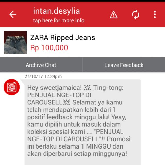 Most Thank's Carousell