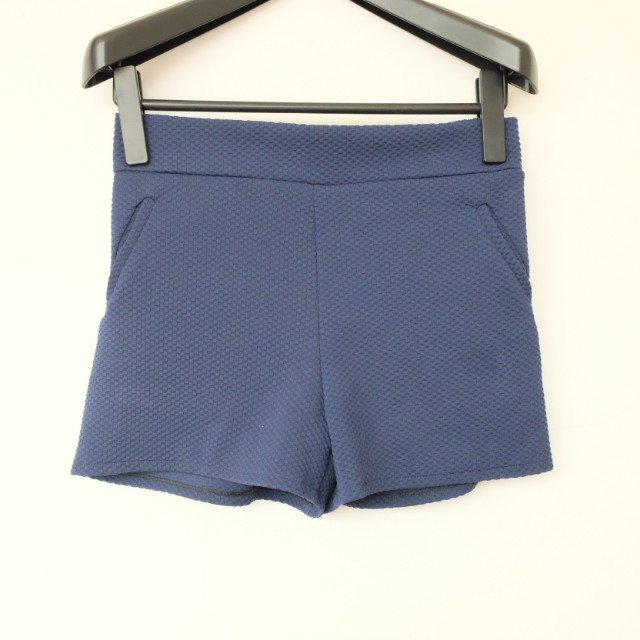 Navy Short with Rubber Waist