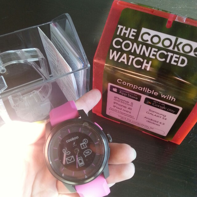 New pink cookoo connected watch