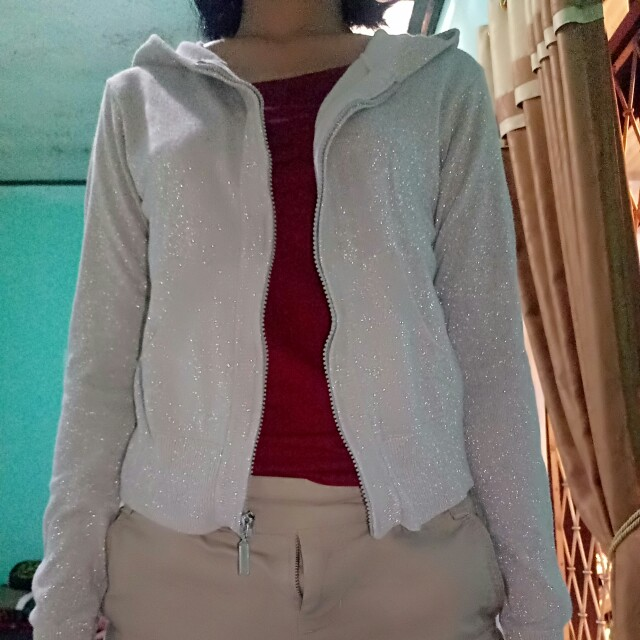 Outer hoody grey