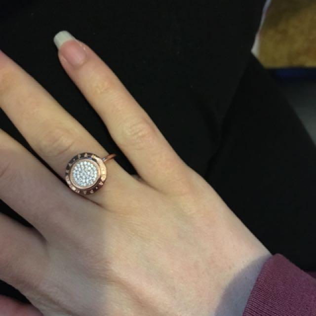 Pandora Signature Rep Ring 100% Sterling Silver