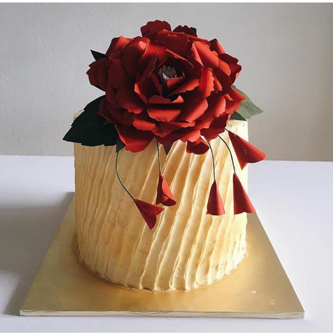 Paper Flower Cake Topper: Peony