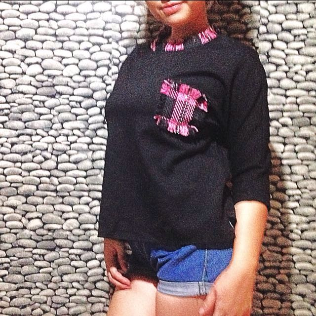 Pink Pocket Sweater/Pullover