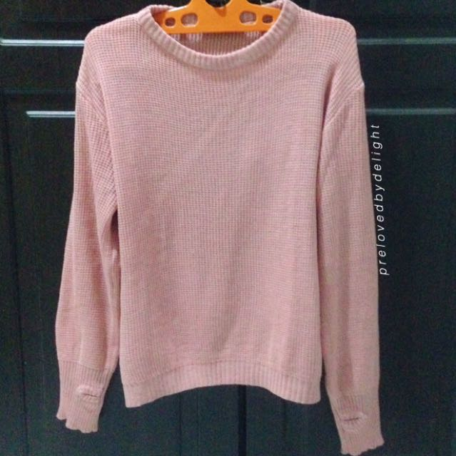 PINK ROUNDHAND SWEATER