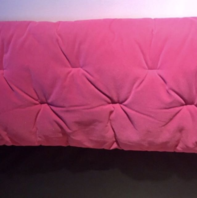 Pink sparkly twin headboard