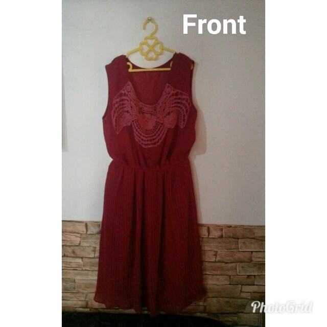 PreLoved Dress in Hot Red