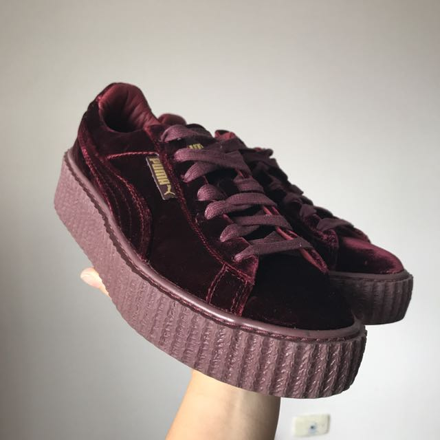 uk availability 8a5ca 631a0 PUMA X FENTY RED VELVET CREEPER, Women's Fashion, Shoes on ...