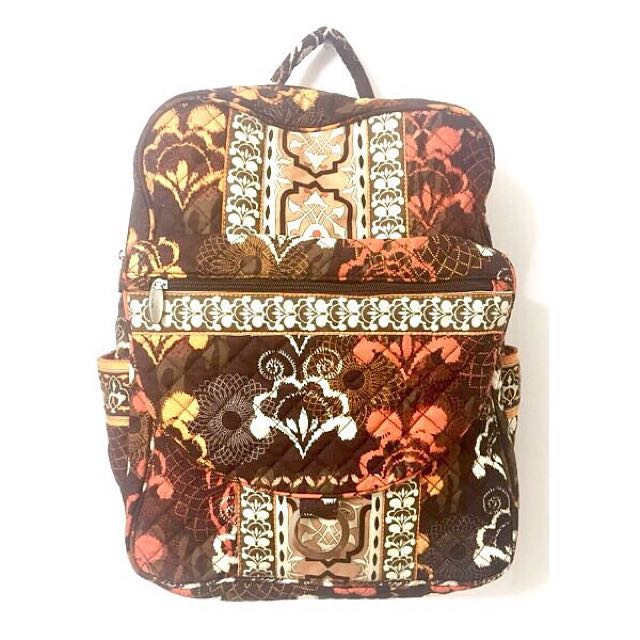 Quilted pattern backpack