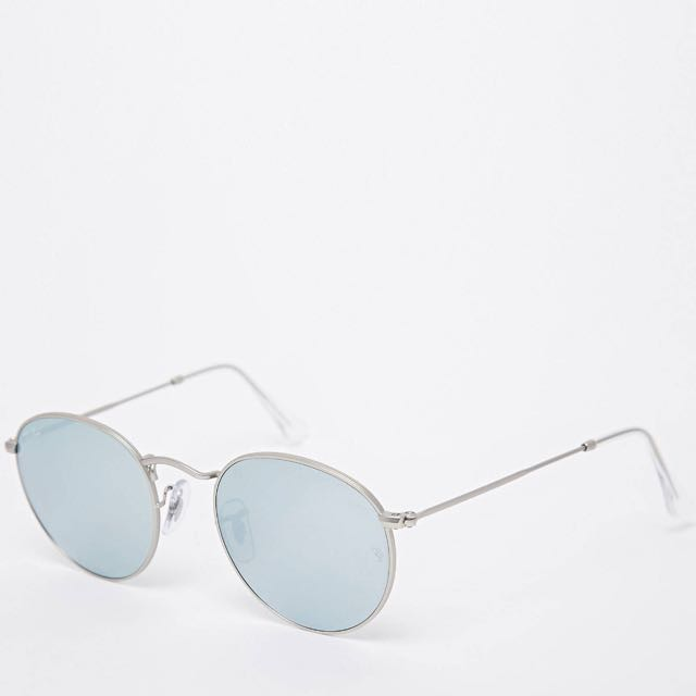 Ray ban Silver Round Metal Sunglasses