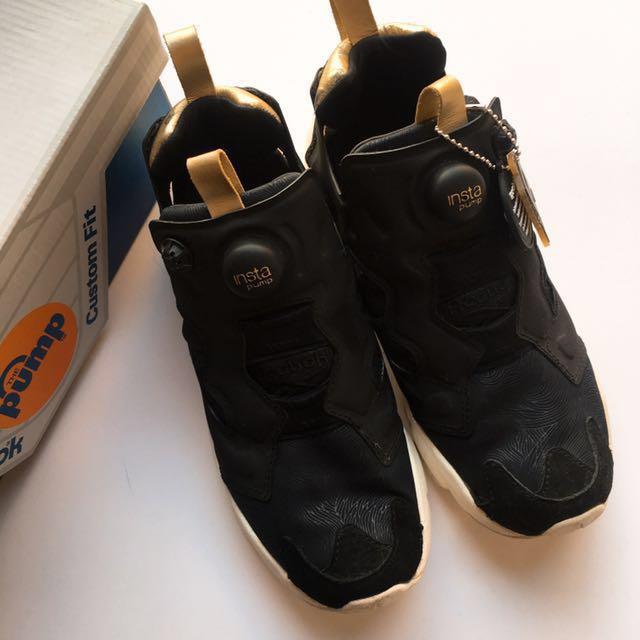 f98514d9fb Reebok Insta Pump Fury - Black Gold Women, Women's Fashion, Women's Shoes  on Carousell