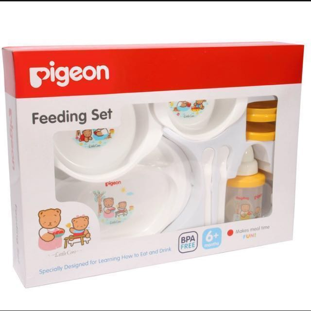 {Reserved} Pigeon Feeding Set with Training Cup, Babies & Kids, Nursing & Feeding on Carousell