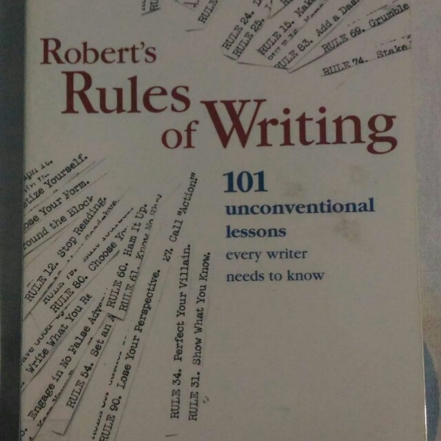 Robert's Rules of Writing 101