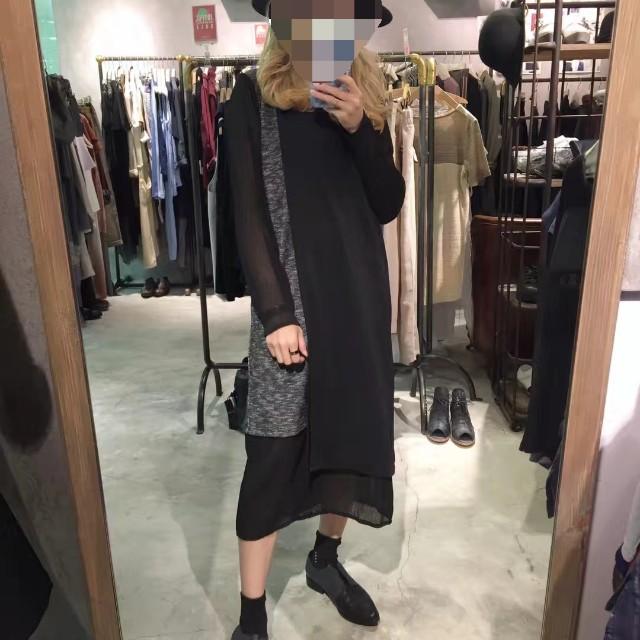 ROCOCO香港品牌 潮流 時尚 設計 拼接 秋冬款 長版上衣/連衣裙 M號 《新品現貨免等》#我的女裝可超取