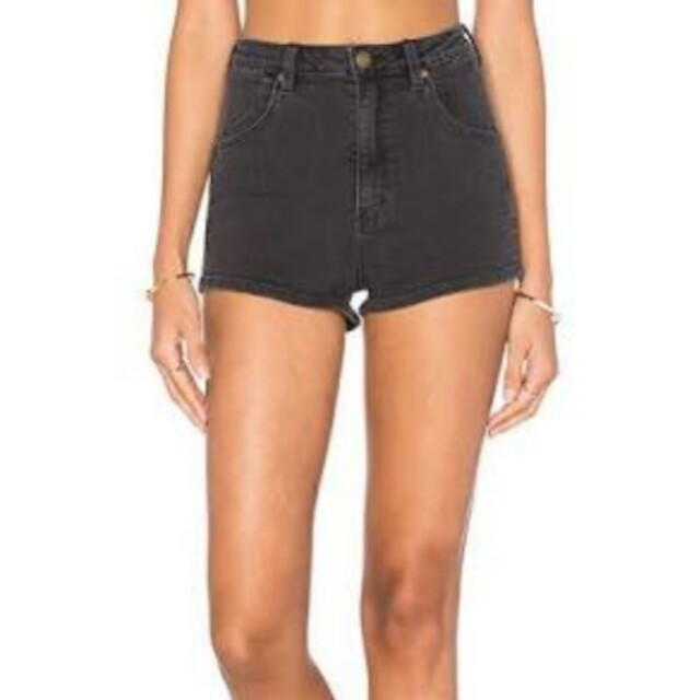 PRICE DROP!! ROLLA'S HIGHTAILS High waisted denim shorts washed black sz 7
