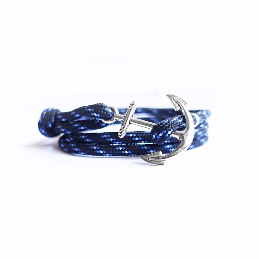 Seabreeze Rope Silver Anchor Bracelet