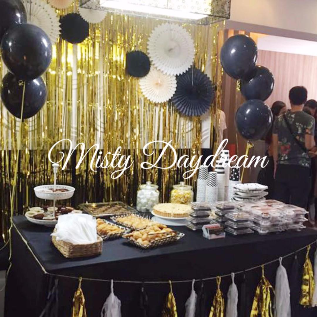 Tinsel Curtain Party Backdrops