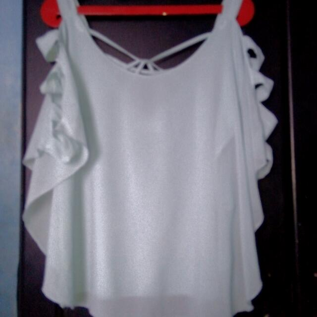 Top chiffon  Lembut Warna Mint