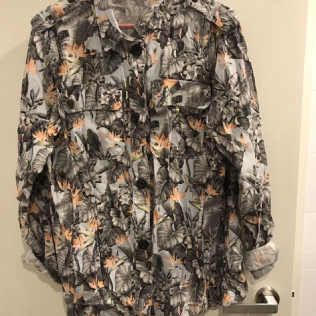 Top shop flower jacket