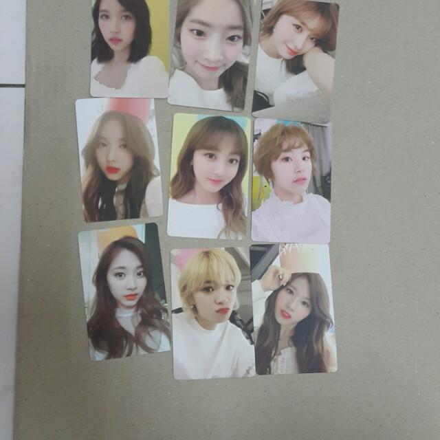 Twice member photocard,ic card ,109 photocard