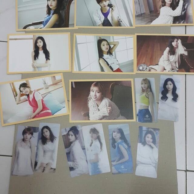 Twice sg, photocard ,postcard member set sell