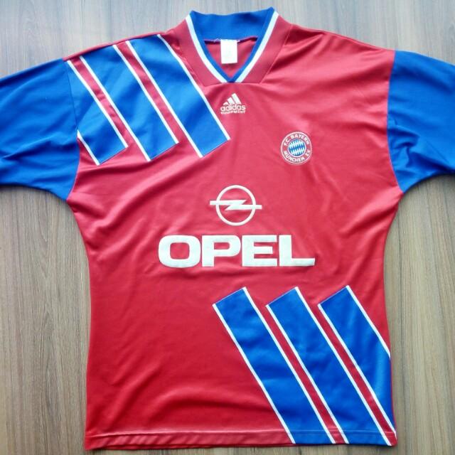 online retailer 3bb6f f8682 Vintage Bayern Munich 93/95 adidas home jersey jersi