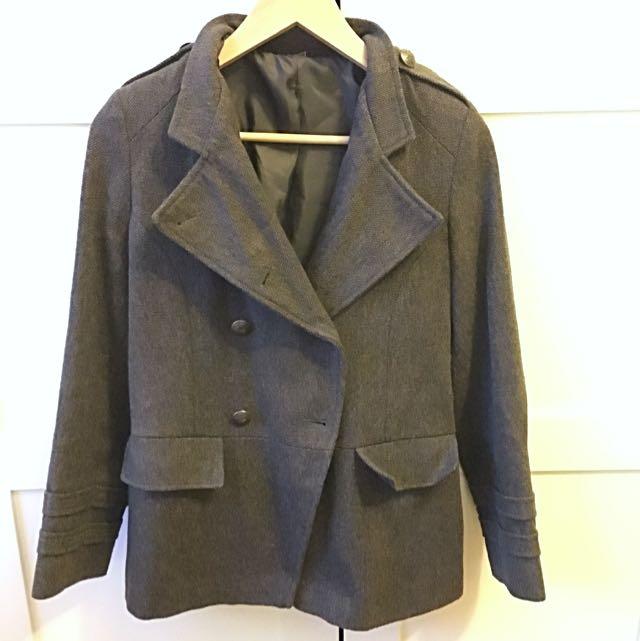 Vintage Military Khaki Coat Blazer