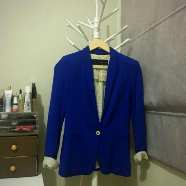 Zara blazer blue