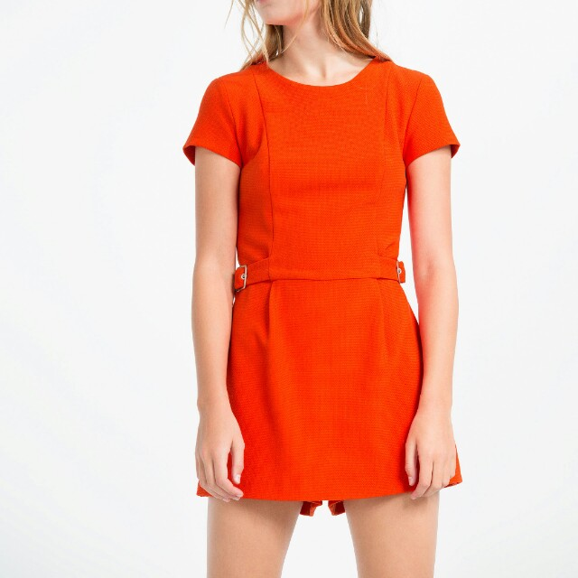 fccb74e1c8f Zara Orange skort playsuit
