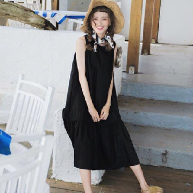 [轉賣Zebra-crossing]韓國背心魚尾仙女洋裝/黑色