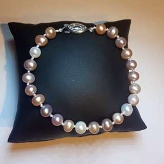 Multicolor Authentic Pearl Bracelet