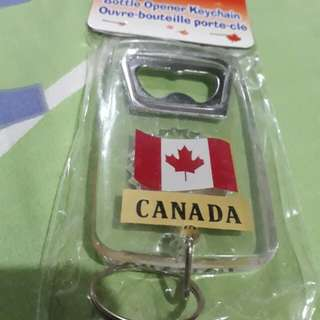 Canada bottle opener and keychain