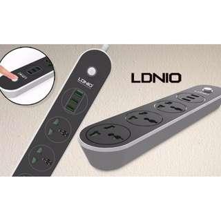智能拖板 三USB 三電插座 LDNIO 3 Power Socket + 3 USB Port Charger 香港13A插頭 3 x Socket Combo 3 x USB