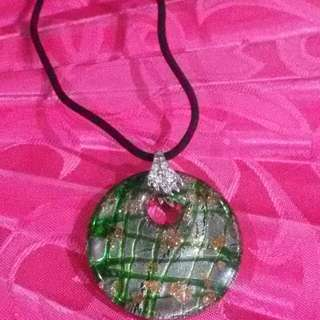 Murano Glass Pendant Necklace From Italy
