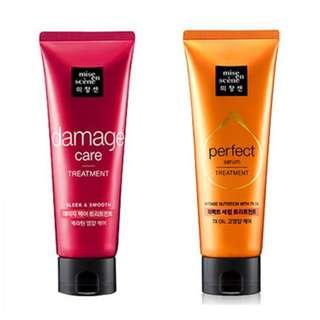 Mise en scene Hair treatment 完美絲滑全效修護髮膜 Perfect Repair 深層受損修護髮膜 Damage Care 單瓶