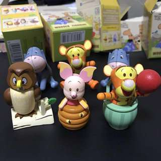 Selling only! 7-11 Winnie the pooh wooden figurines