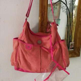 diapers sling handbag pink