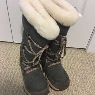 ULU Winter Boots Size 5.5 (Real sheepskin)