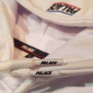 PALACE Skateboards SS 2017 Basically A Hood White Hoodie Size Large