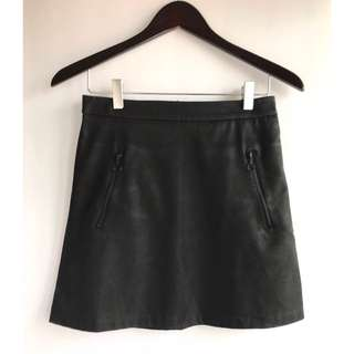 Zara Woman Snakeskin Print Skirt
