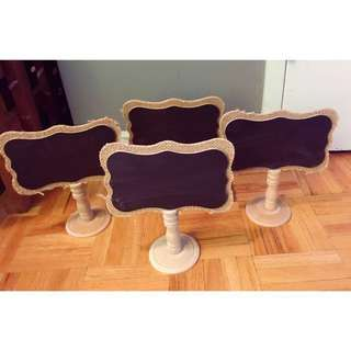 Cute little chalkboard stands nothing is wrong with them (mint condition) can be sold separately! Two for $2.50