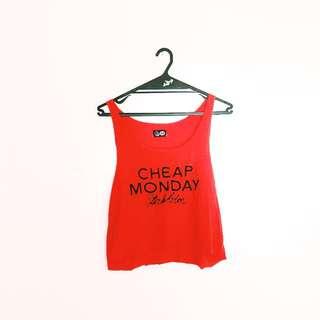 Cheap Monday Logo Orange Crop