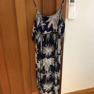 Navy floral summer dress