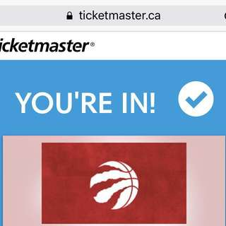 Raptors tickets 4 tickets $115 each