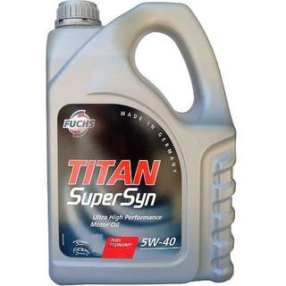 Fuchs Titan Supersyn SAE 5W40 ACEA A3/B4 5L pack.