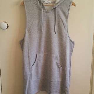 NEW Nude sleeveless hoodie dress L